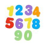 Juguete de baño letras y números 6
