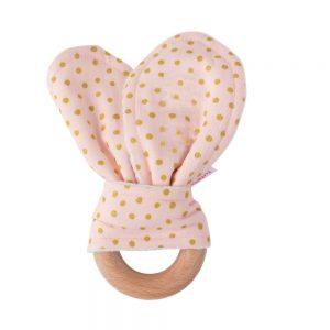 Mordedor conejito perla rosada